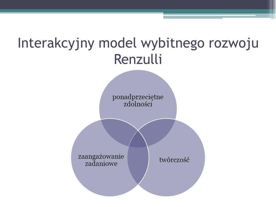 Interakcyjny model wybitnego rozwoju Renzulli