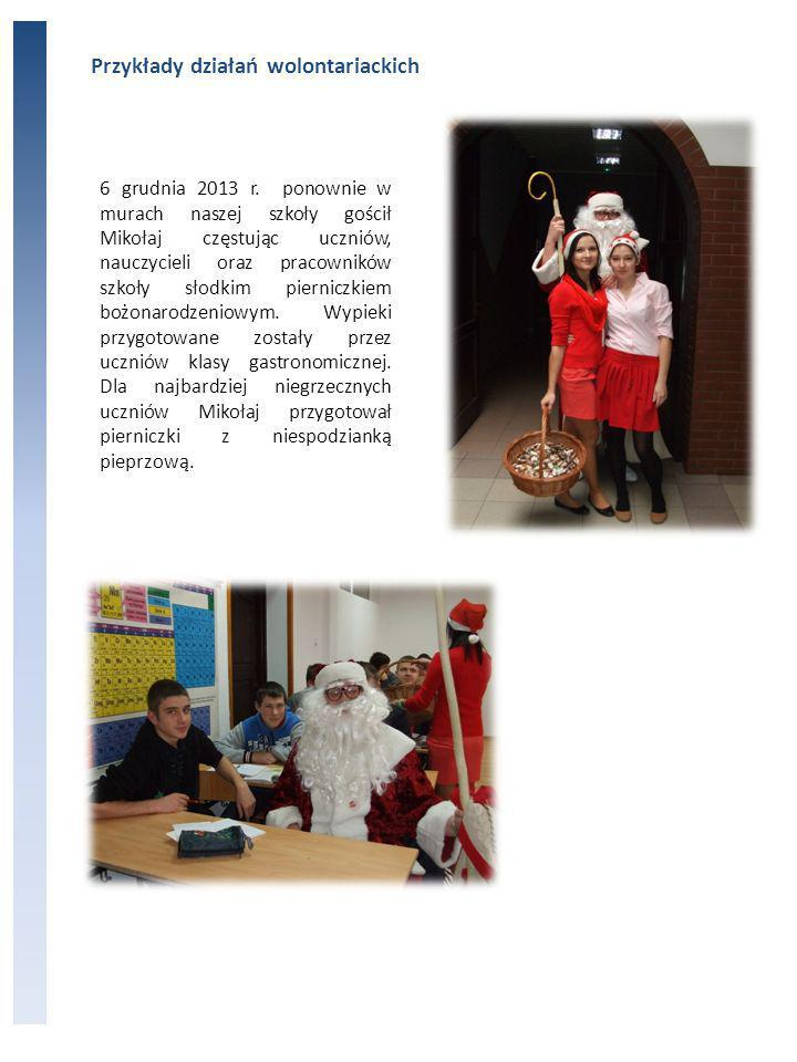 Przykłady działań wolontariackich