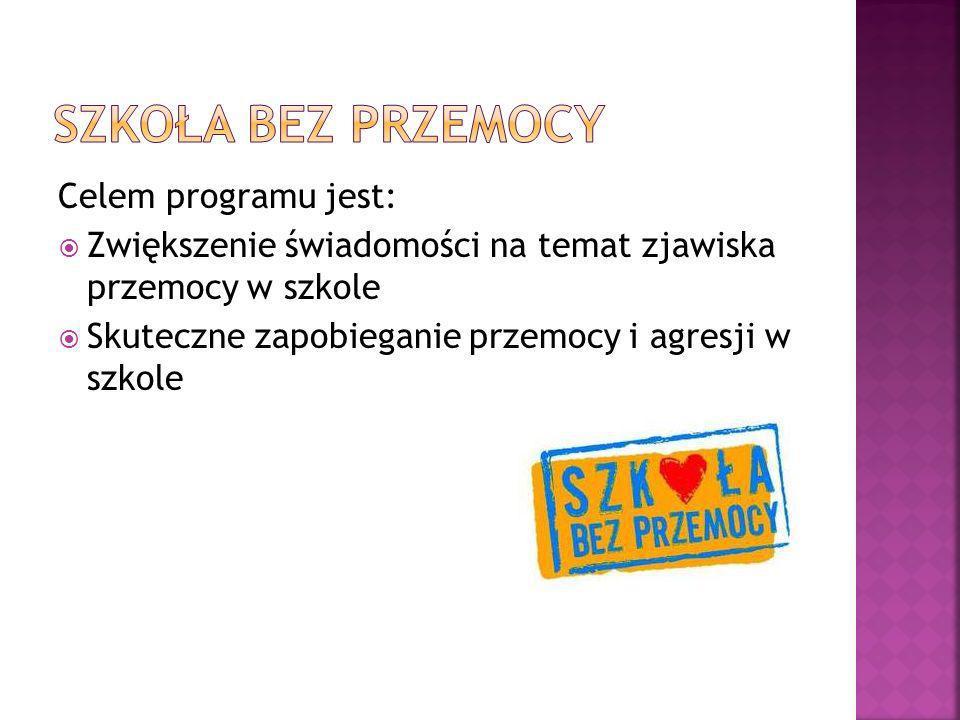 Szkoła bez przemocy Celem programu jest: