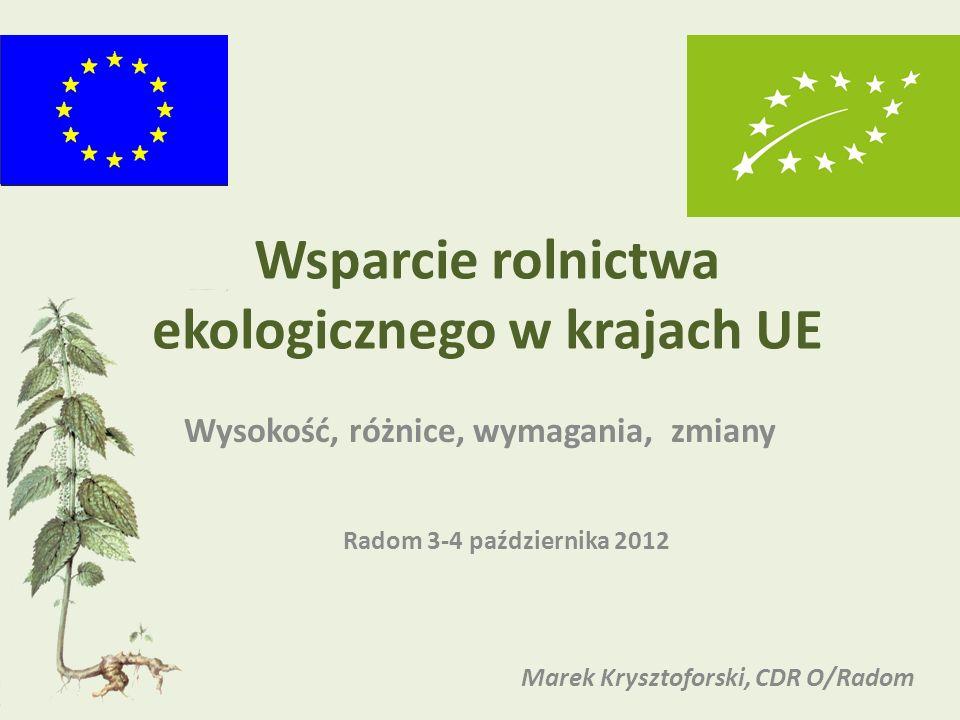 Wsparcie rolnictwa ekologicznego w krajach UE