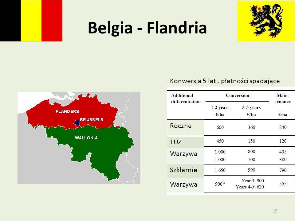 Belgia - Flandria Roczne TUZ Warzywa