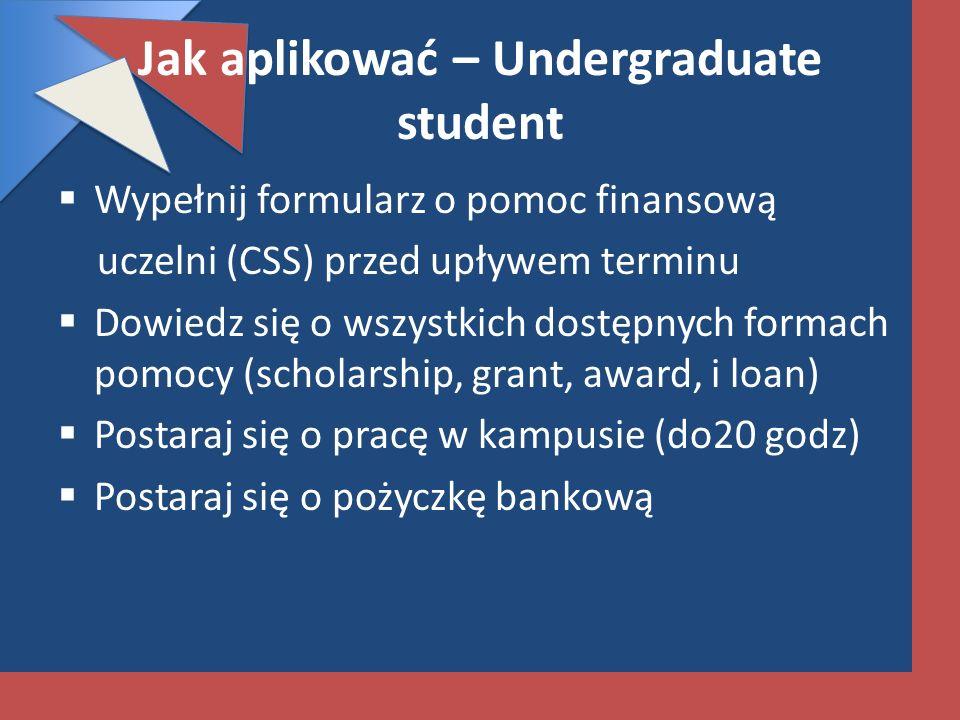 Jak aplikować – Undergraduate student