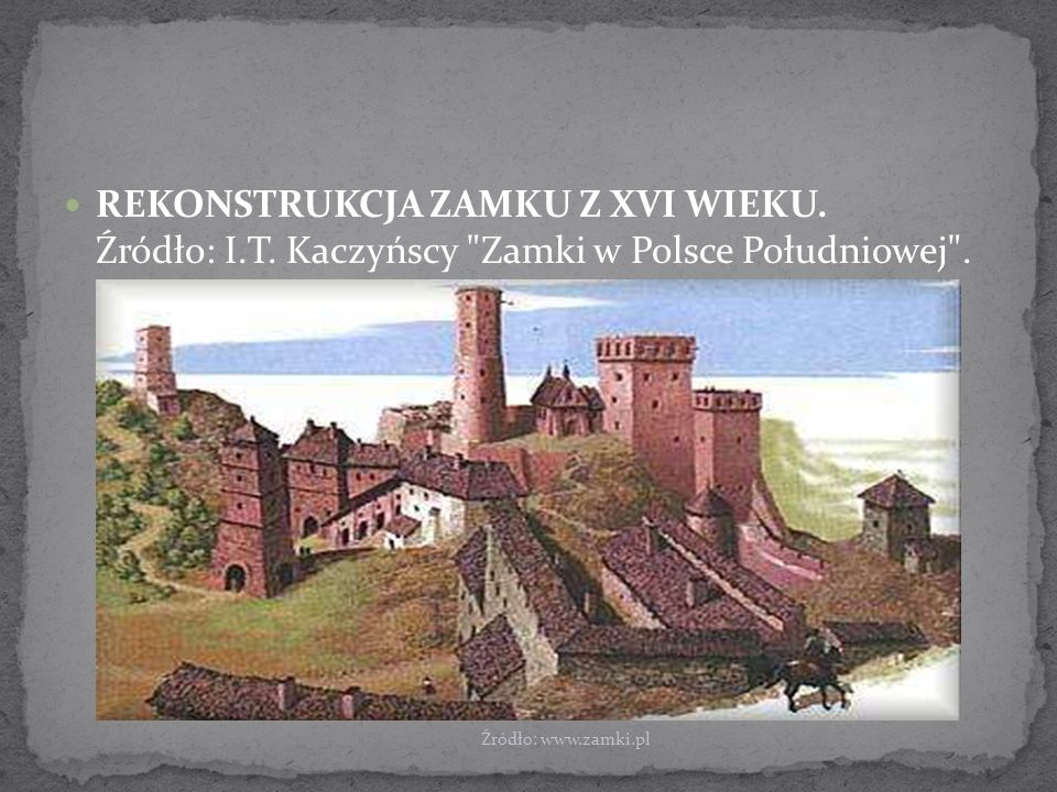 REKONSTRUKCJA ZAMKU Z XVI WIEKU. Źródło: I. T