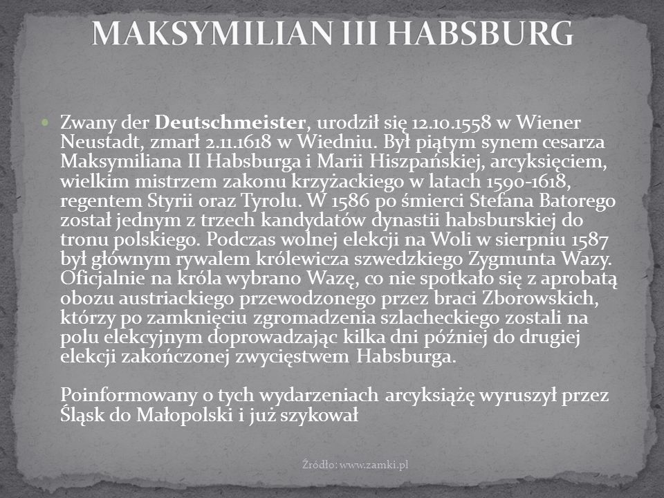 MAKSYMILIAN III HABSBURG
