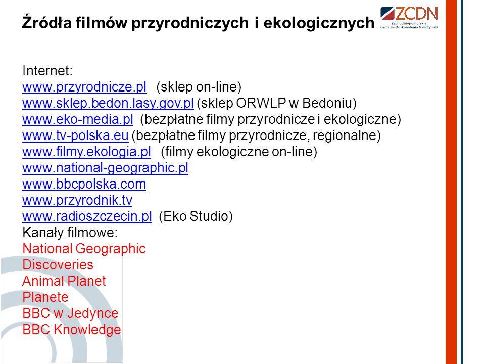 Źródła filmów przyrodniczych i ekologicznych