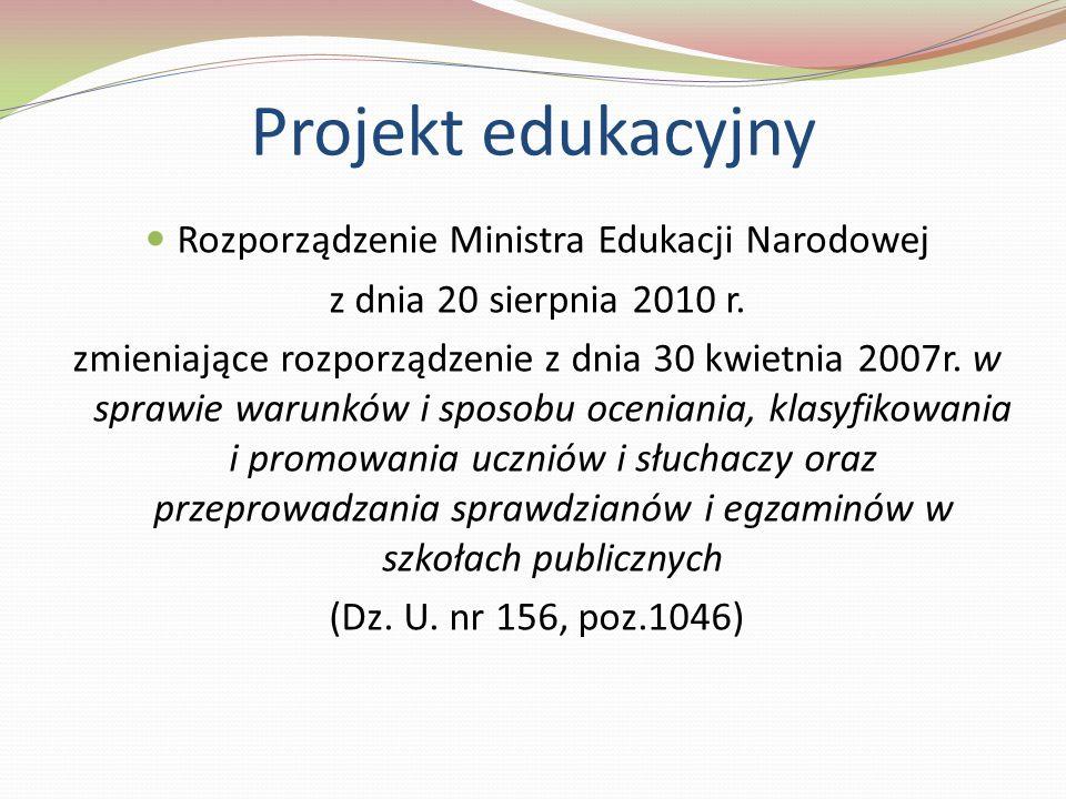 Rozporządzenie Ministra Edukacji Narodowej