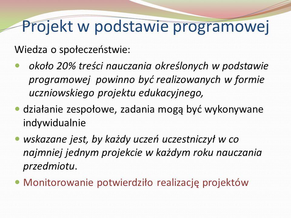 Projekt w podstawie programowej