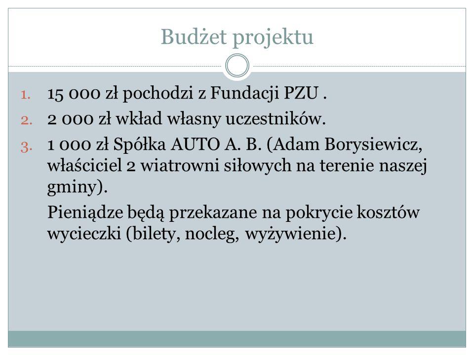 Budżet projektu 15 000 zł pochodzi z Fundacji PZU .