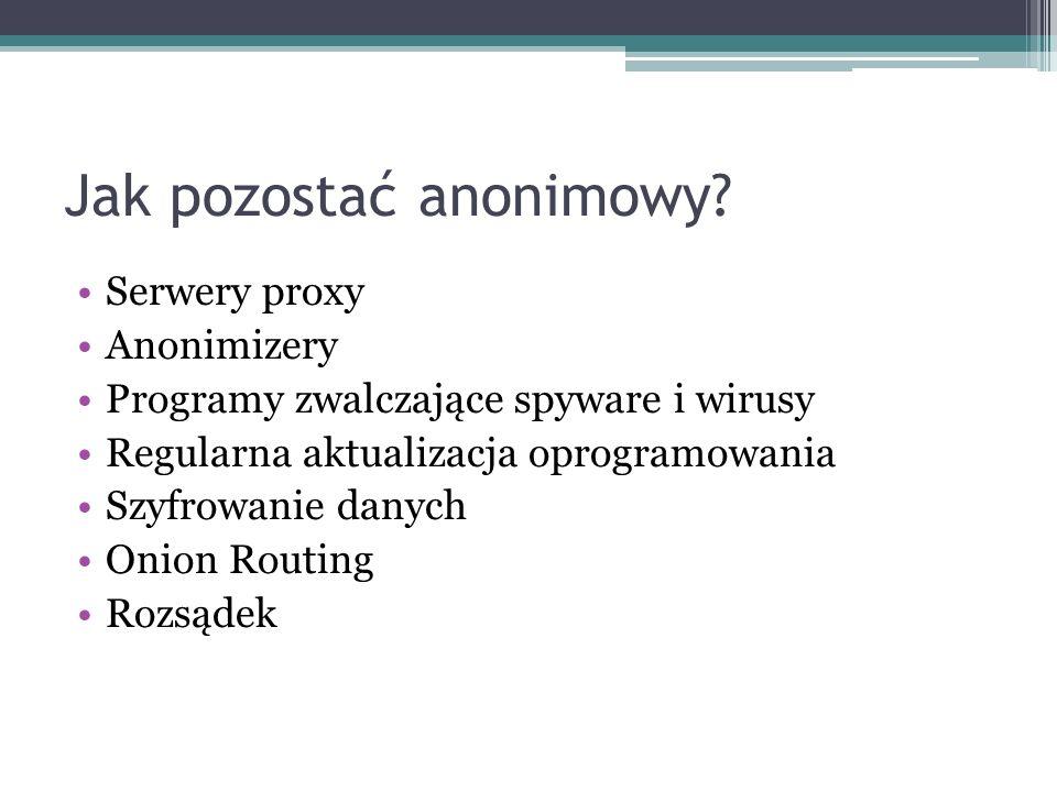 Jak pozostać anonimowy