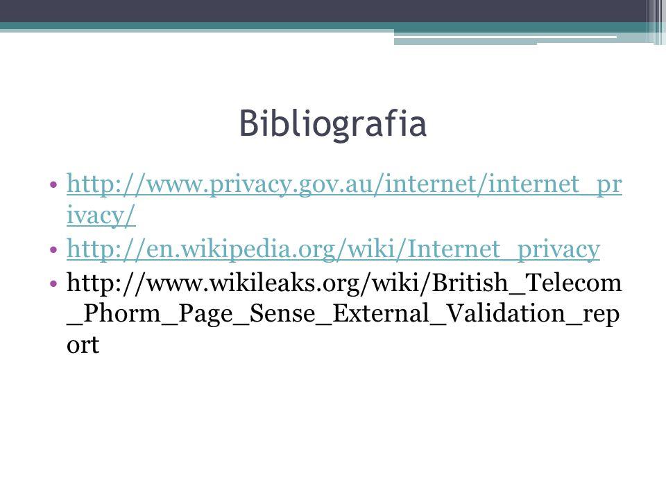 Bibliografia http://www.privacy.gov.au/internet/internet_pr ivacy/
