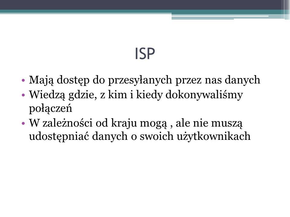ISP Mają dostęp do przesyłanych przez nas danych