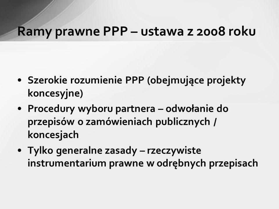 Ramy prawne PPP – ustawa z 2008 roku