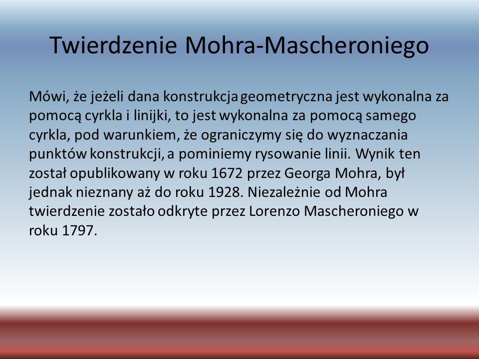 Twierdzenie Mohra-Mascheroniego