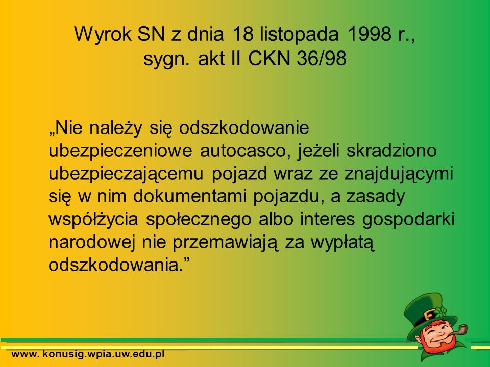 Wyrok SN z dnia 18 listopada 1998 r., sygn. akt II CKN 36/98