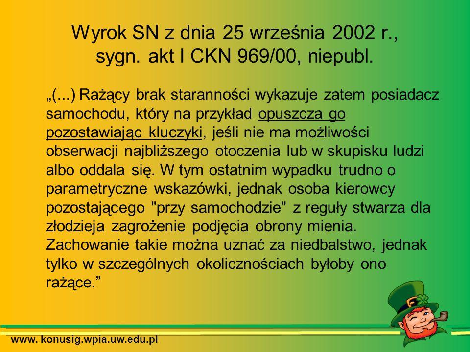 Wyrok SN z dnia 25 września 2002 r., sygn. akt I CKN 969/00, niepubl.
