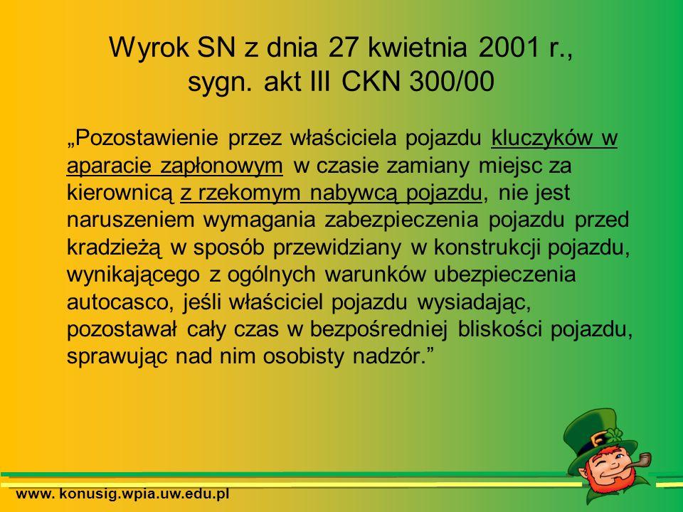 Wyrok SN z dnia 27 kwietnia 2001 r., sygn. akt III CKN 300/00