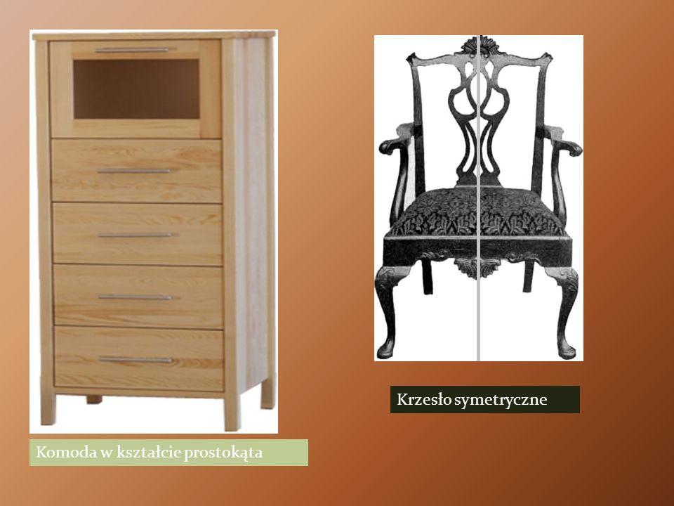 Krzesło symetryczne Komoda w kształcie prostokąta