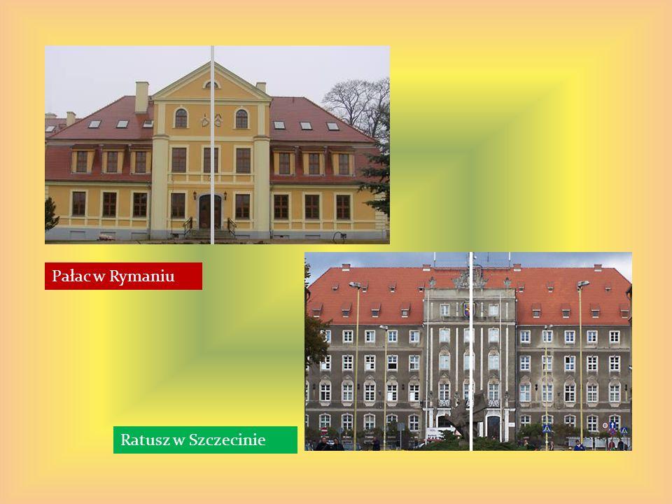 Pałac w Rymaniu Ratusz w Szczecinie