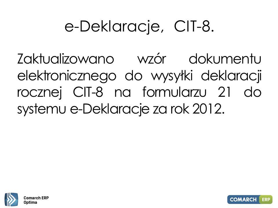 e-Deklaracje, CIT-8.