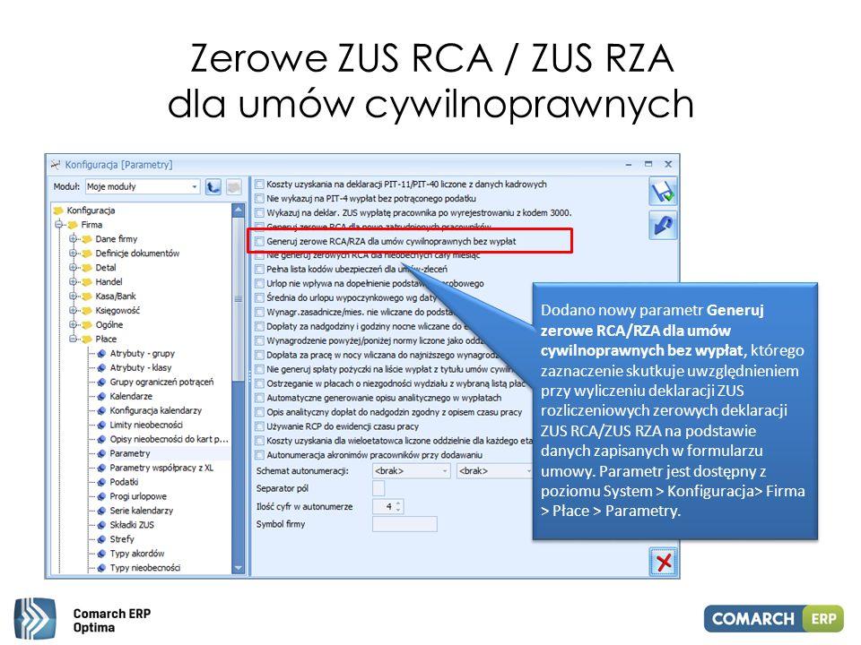 Zerowe ZUS RCA / ZUS RZA dla umów cywilnoprawnych