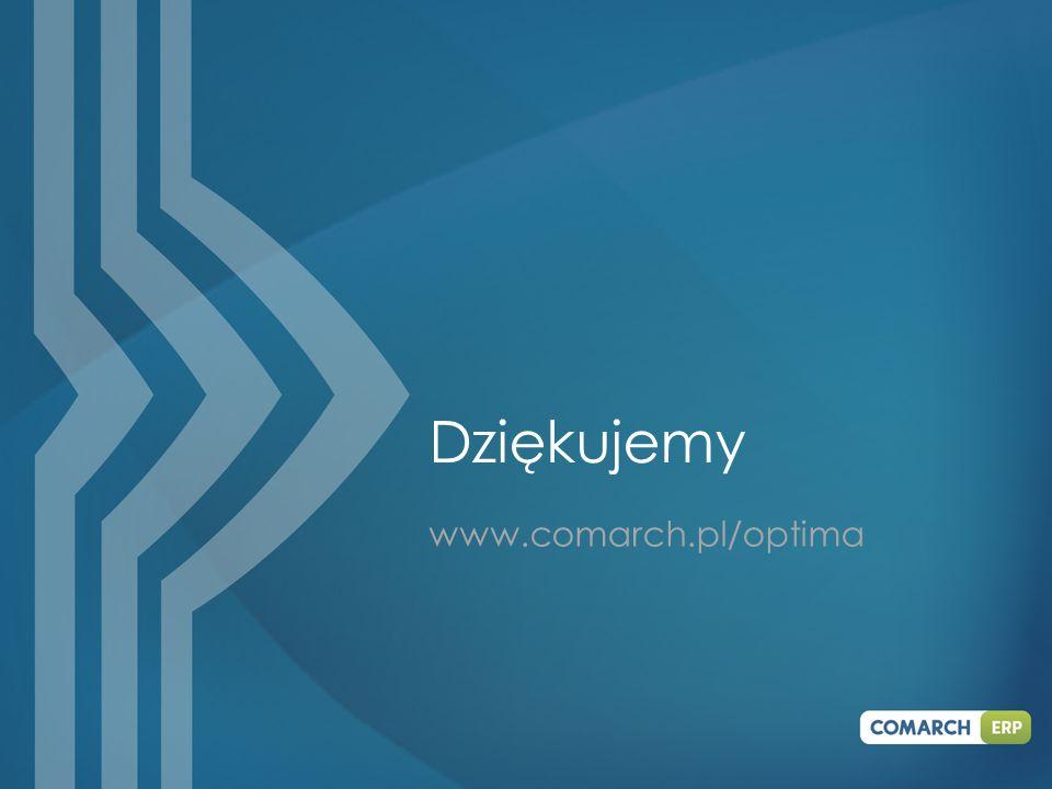 Dziękujemy www.comarch.pl/optima