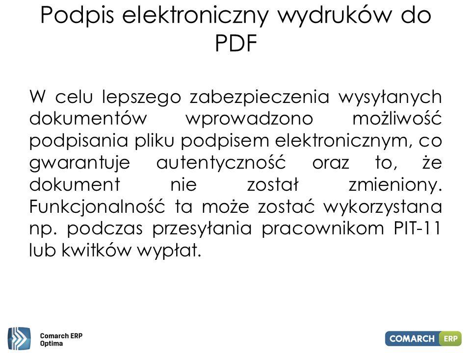 Podpis elektroniczny wydruków do PDF