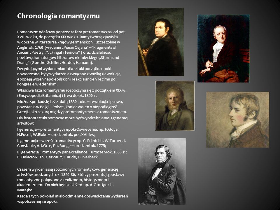 Chronologia romantyzmu