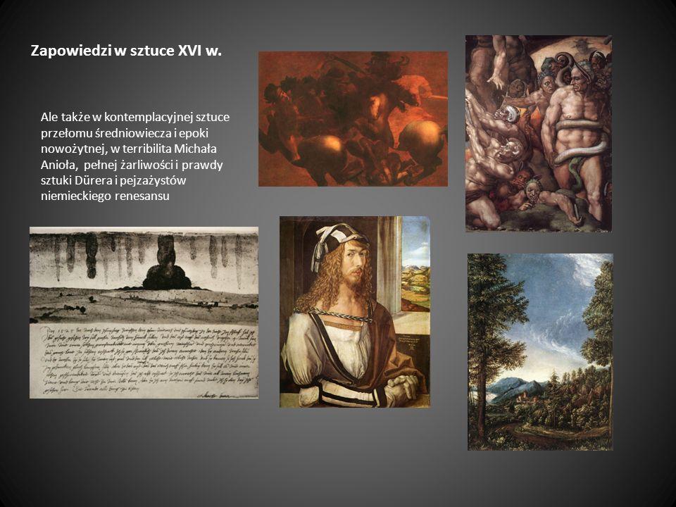 Zapowiedzi w sztuce XVI w.