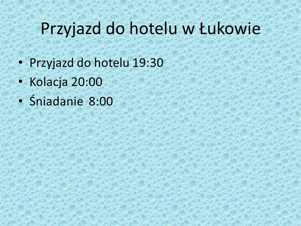 Przyjazd do hotelu w Łukowie