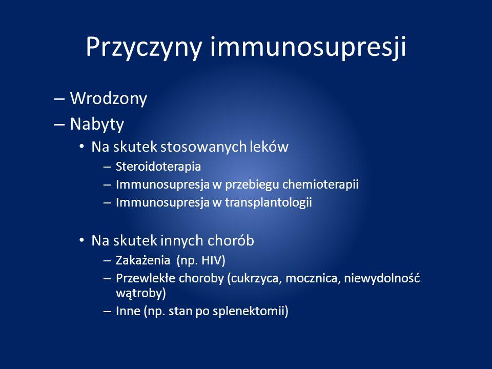 Przyczyny immunosupresji