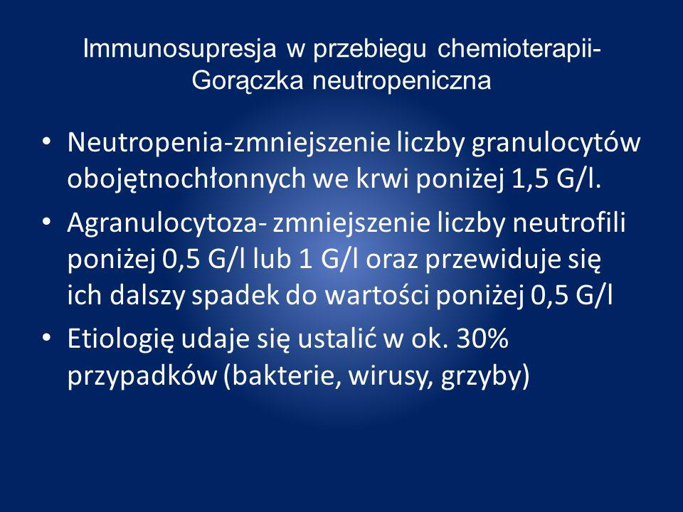 Immunosupresja w przebiegu chemioterapii- Gorączka neutropeniczna