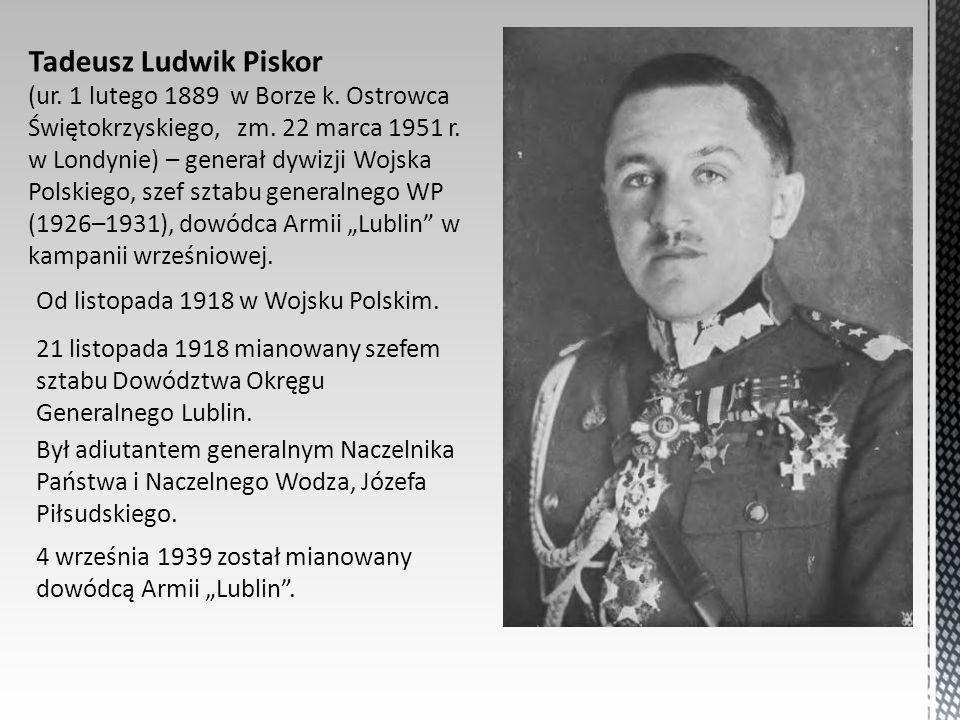 Tadeusz Ludwik Piskor (ur. 1 lutego 1889 w Borze k