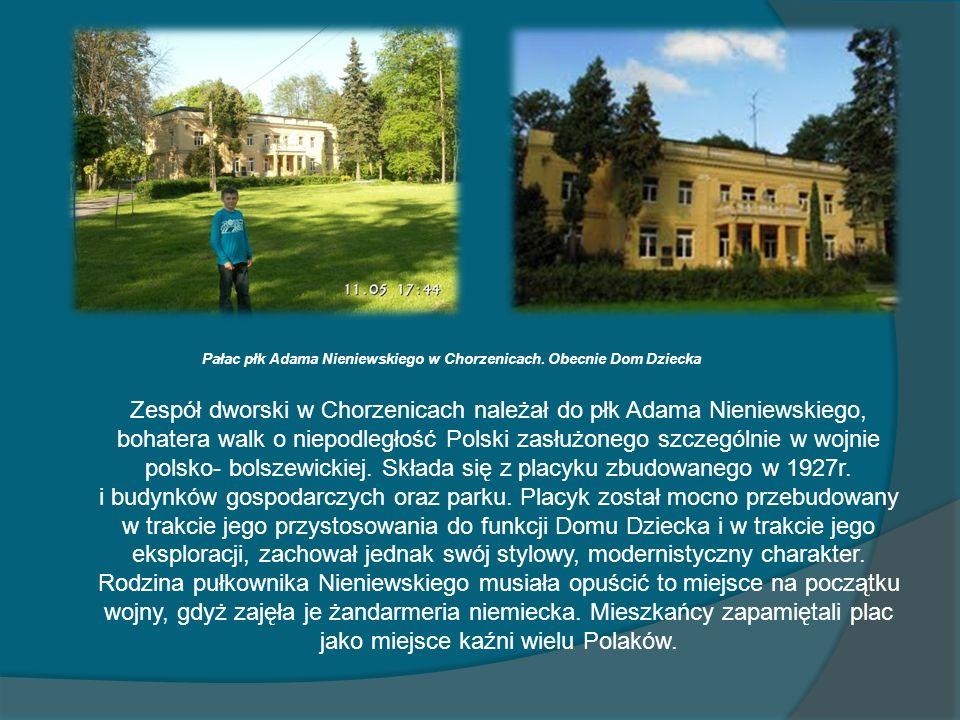 Pałac płk Adama Nieniewskiego w Chorzenicach. Obecnie Dom Dziecka