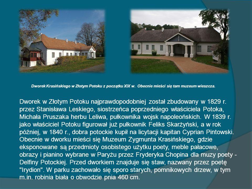Dworek Krasińskiego w Złotym Potoku z początku XIX w
