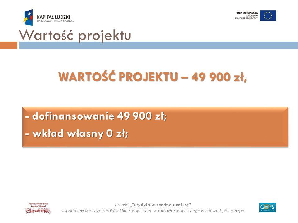 Wartość projektu WARTOŚĆ PROJEKTU – 49 900 zł,