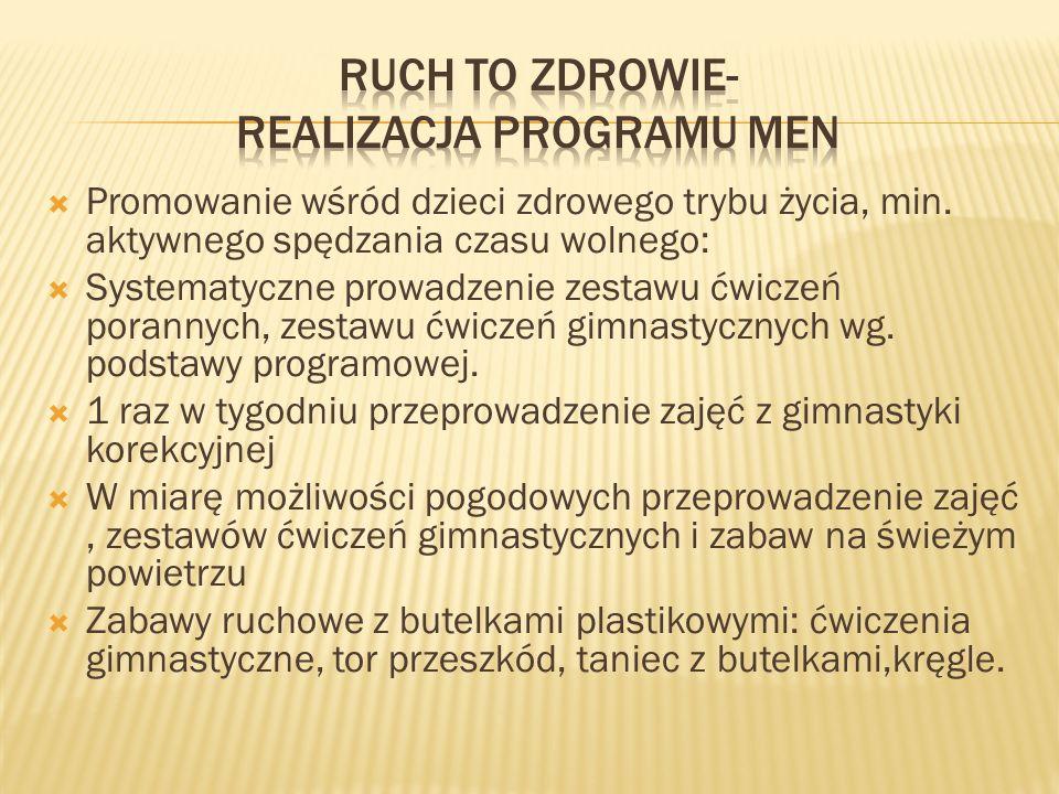 Ruch to zdrowie- realizacja programu MEN