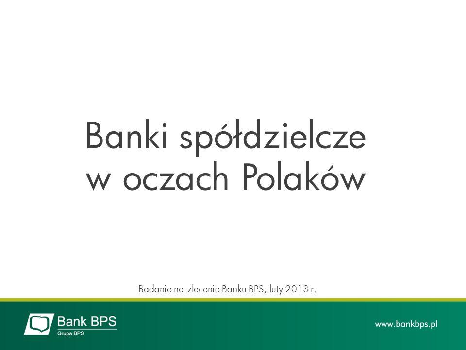Banki spółdzielcze w oczach Polaków