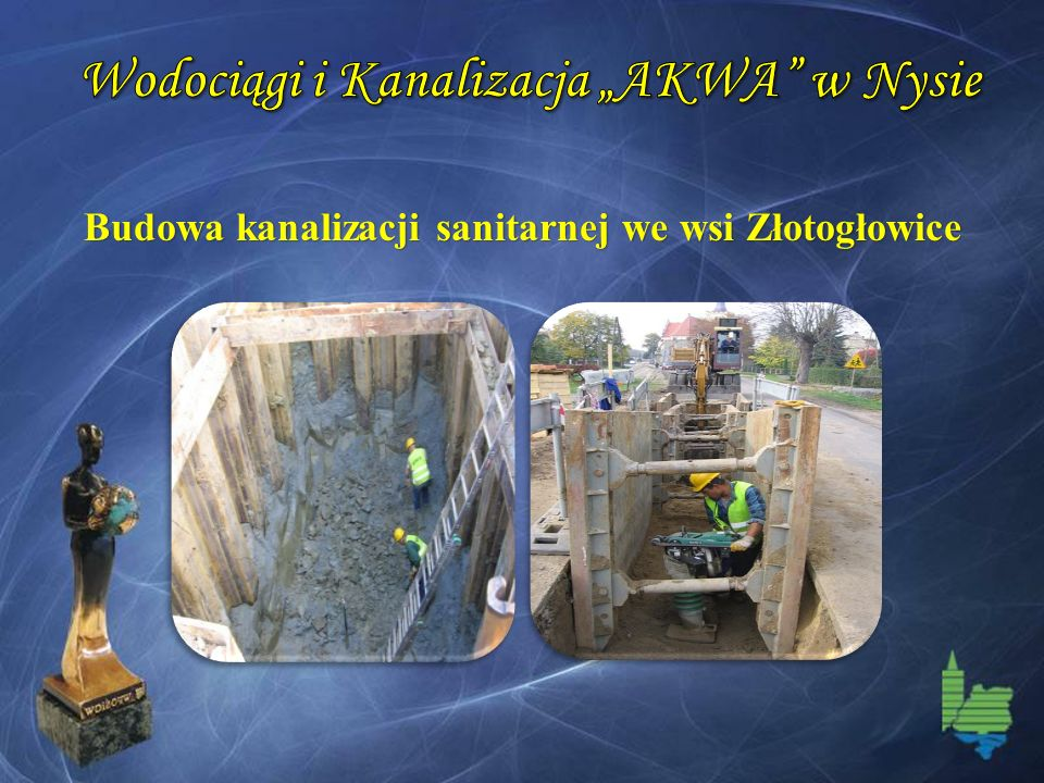 Budowa kanalizacji sanitarnej we wsi Złotogłowice