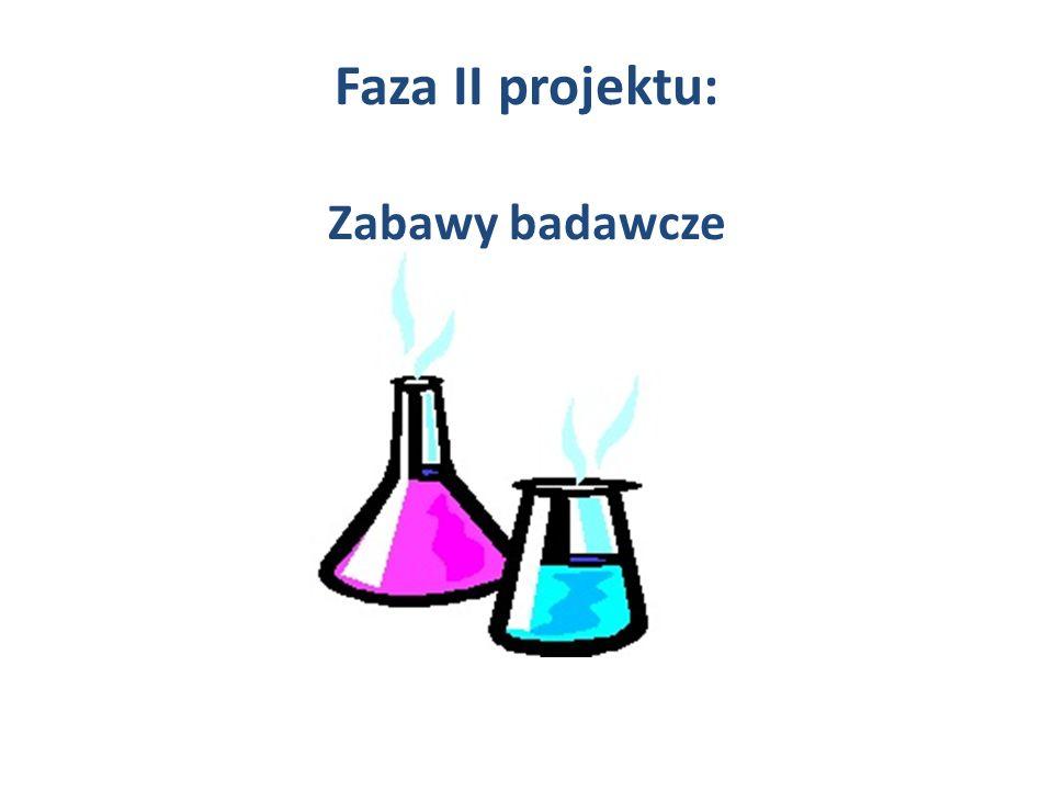 Faza II projektu: Zabawy badawcze