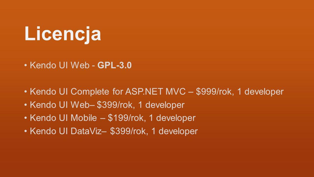 Licencja Kendo UI Web - GPL-3.0