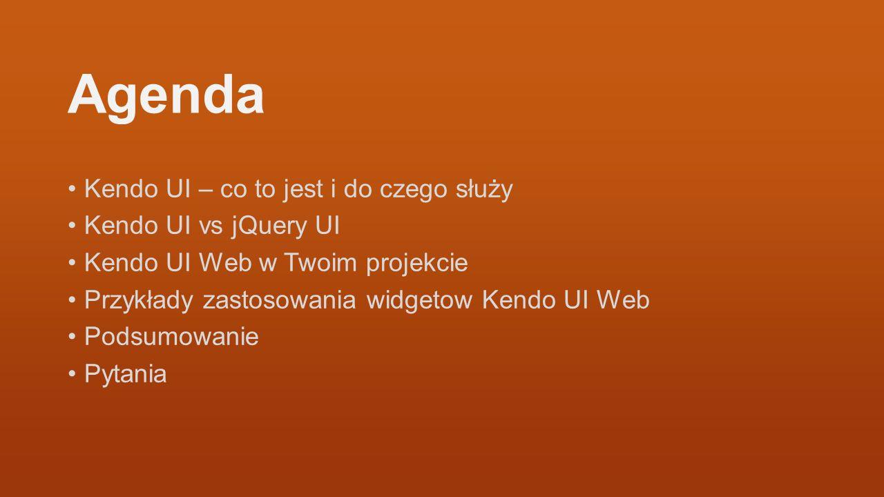 Agenda Kendo UI – co to jest i do czego służy Kendo UI vs jQuery UI