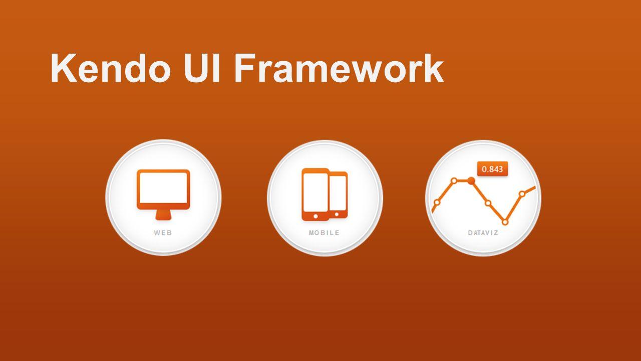 Kendo UI Framework Kendo UI składa się z trzech elementow(produktow):