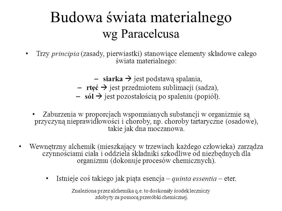 Budowa świata materialnego wg Paracelcusa