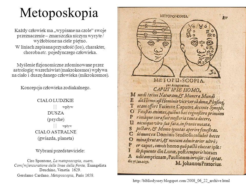 """Metoposkopia Każdy człowiek ma """"wypisane na czole swoje przeznaczenie – zmarszczka niczym wyryte / wyżłobione na ciele piętno."""