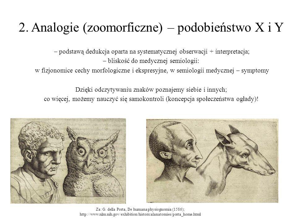 2. Analogie (zoomorficzne) – podobieństwo X i Y