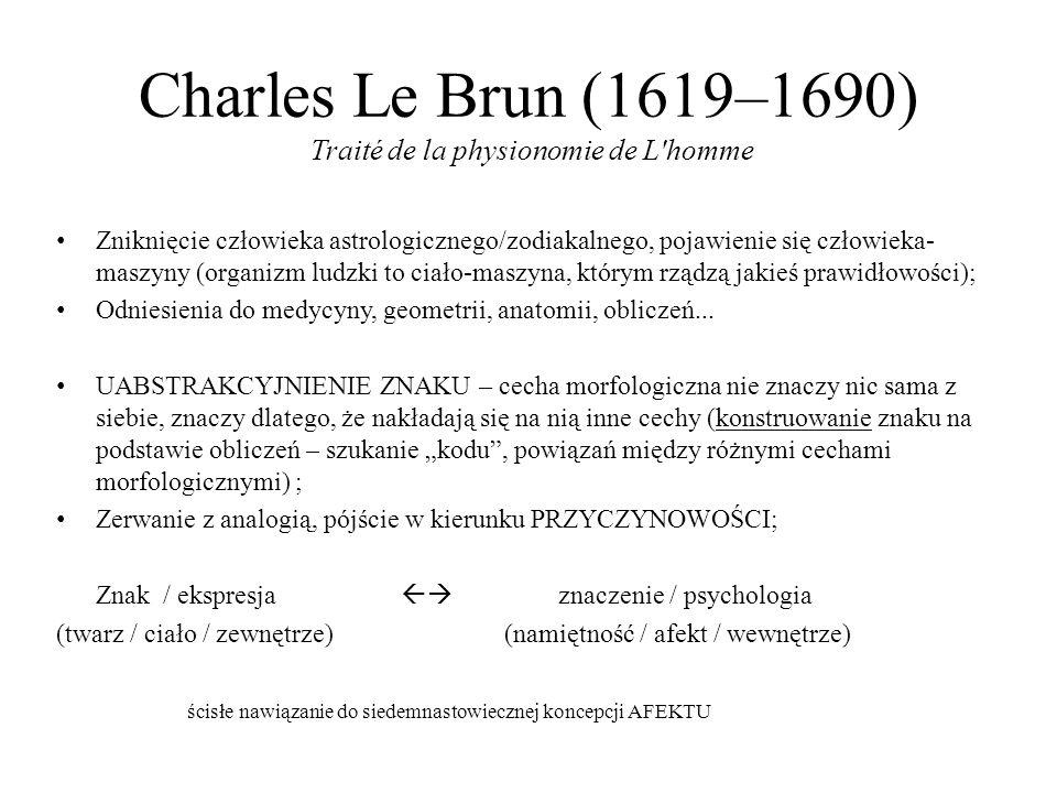 Charles Le Brun (1619–1690) Traité de la physionomie de L homme
