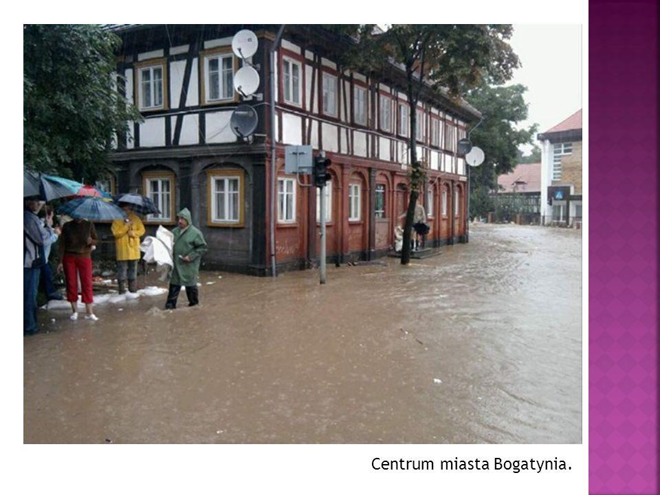 Centrum miasta Bogatynia.