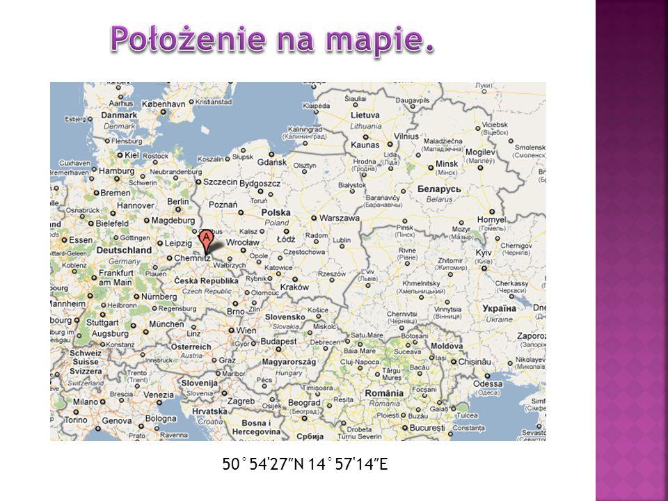Położenie na mapie. 50°54 27″N 14°57 14″E