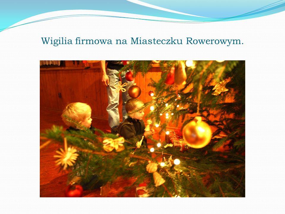 Wigilia firmowa na Miasteczku Rowerowym.