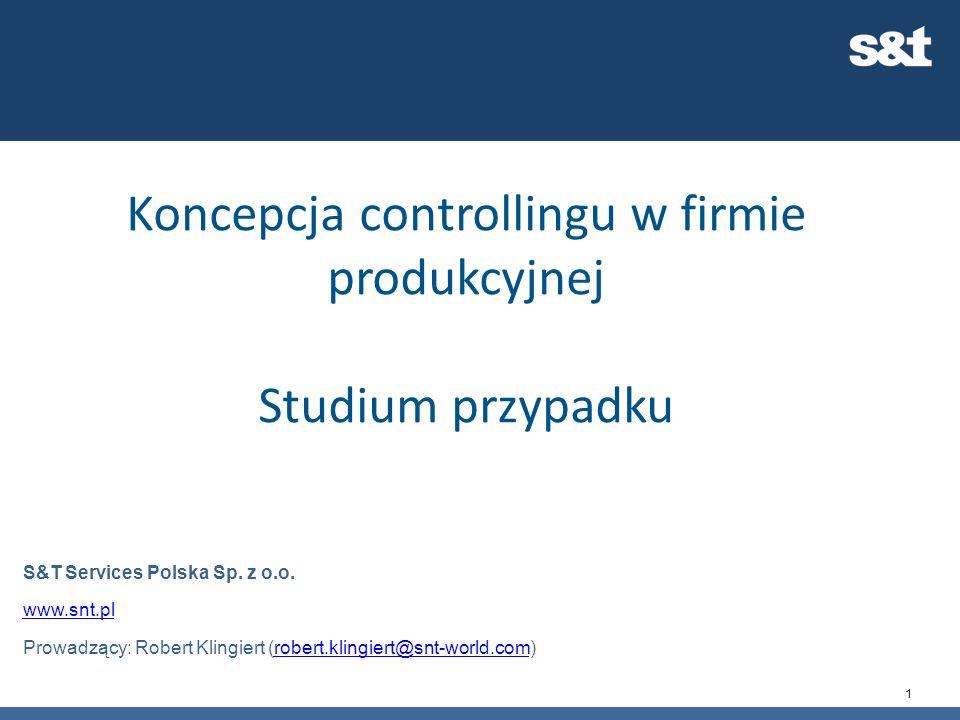 Koncepcja controllingu w firmie produkcyjnej